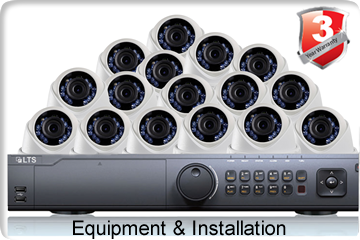 16 Camera Installation With Equipment